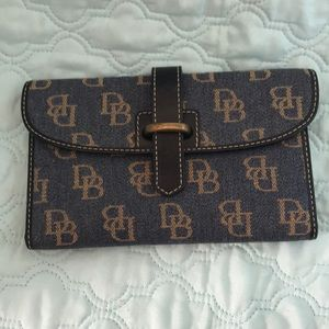 Dooney & Bourke Blue Jean Denim Wallet